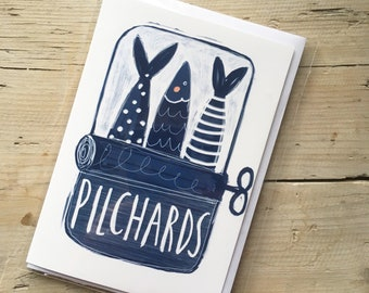 Pilchards card A6