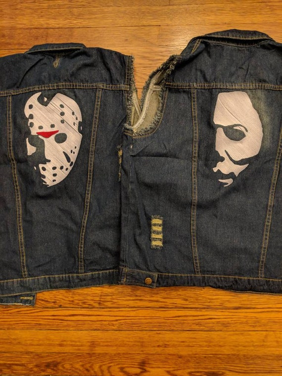 Horror Denim Vests (michael, myers, halloween, the shape, jason, voorhees, friday the 13th, horror, movie)