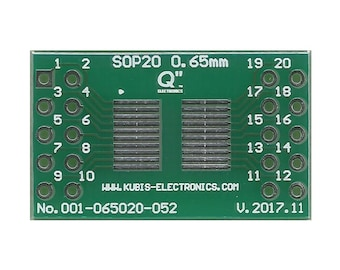 "SOP20,MSOP20,TSOP20 0.65mm(0.026"") to 2xIDC2x5 connector."