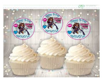Custom Cupcake toppers, Capri sun, Candy tags
