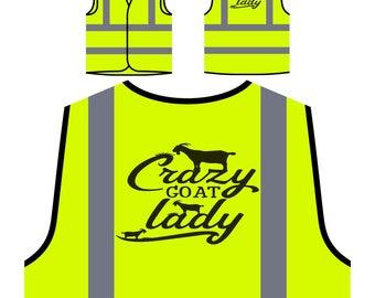 Crazy Goat Lady Yellow Safety Jacket Vest t532v