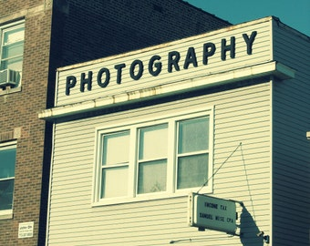 Chicago Photography, photography business, vintage architecture, North Park, signs, black and white, mom pop shop, storefront - PHOTOGRAPHY