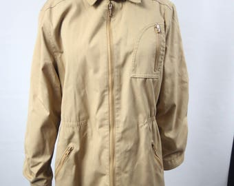 Vintage London Fog Tan Coat Fully-lined Womens small/medium