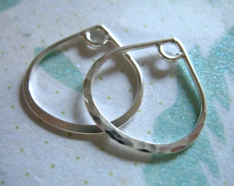5 pcs Bulk, Earring Hoops Charms Pendants Teardrop Tear Drop Links, 20x20 mm, Sterling Silver, SMALL, wholesale findings, td20