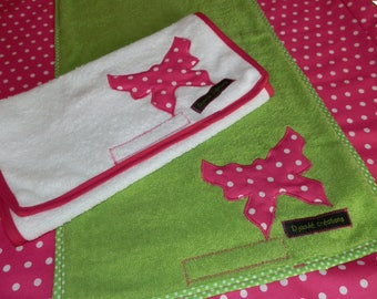 Cover changing mat + 2 diapers with logo - custom