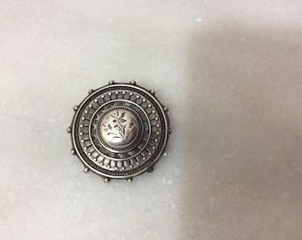 Vintage Victorian sterling silver brooch
