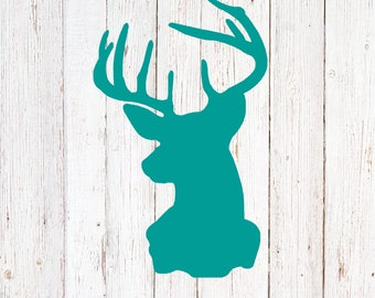 Deer Decal, Yeti Decal, Deer Stickers, Hunting and Fishing, Yeti Monogram Decal, Buck Decal, Custom Decal for Yeti