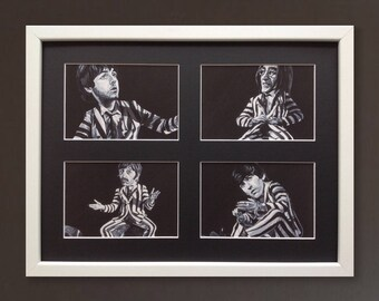 THE BEATLES wall art - giclee print of 'The Beatlejuice Collection' acrylic paintings by Stephen Mahoney - The Beatles hybrid art