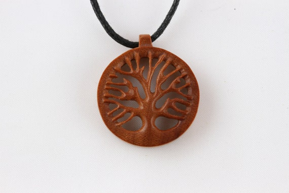 and pendants on wooden pendant etsy by necklace ninfa carved primaloriginals pin