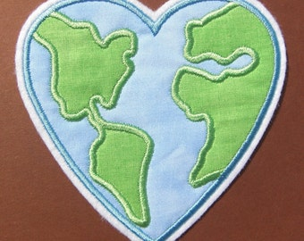 INSTANT DOWNLOAD Earth Heart Applique designs 3 sizes