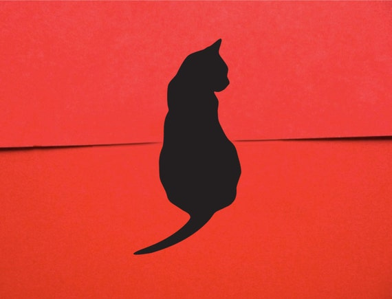 Black Cat Stickers - Gift Wrap Cat Mini Stickers (50)