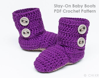 Stay-On Baby Boots Crochet Pattern
