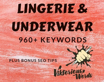 SEO Keywords for Lingerie Underwear Bra Set Tag Popular Keyword How to Sell Help Title Search Results Instagram Hashtag Best Seller etsy13