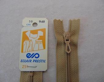 Zip closure, nylon, beige Antelope (Z51 940)