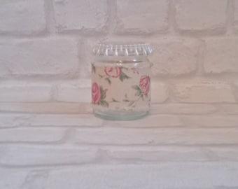 Rose hessian tealight