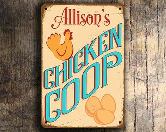 Custom CHICKEN COOP SIGN, Customizable Chicken Coop Signs, Vintage style Chicken Coop Sign, Chicken Coop Signs, Custom Outdoor signs, Coop