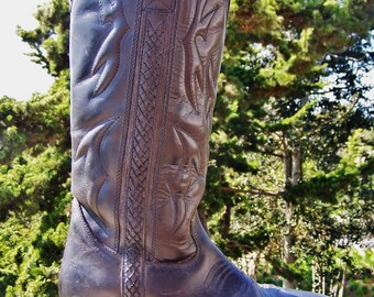Cole Haan, Boots, Black, Leather, Cowgirl, Women, size 7