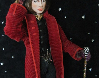OOAK Johnny Depp Willy Wonka Chocolate Factory Art Doll