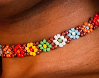 Multicolor beaded Choker
