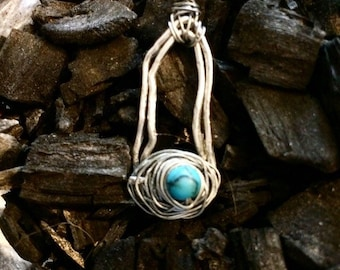Silver and Turquoise Eye Pendant