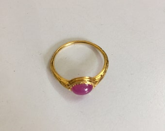 Natural Ruby Ring with 18k gold