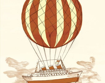 Airship 2 - A4 Limited Edition Print
