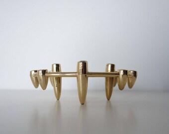 MCM Atomic Gold Sputnik Candle Holder