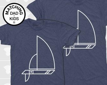 Dad Gift, Dad and Me Shirt, Sailboat, Father Son Matching Shirt, Matching Dad Son, Daddy Daughter Shirt, Dad Baby Matching, Nautical