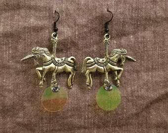 Carousel Unicorn Earrings