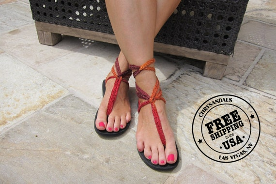 SHIPPING the FREE with USA Up in Laces Sandals Sandals Vegan Sandals Lace Gladiator Terracotta Boho q0Ynz