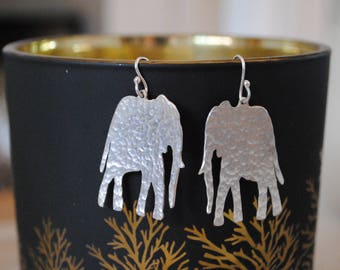 Hammered Elephant Earrings