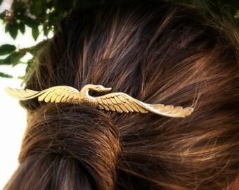 Gold Swan Hair Comb Gold Hair Comb Gold Hair Clip Hair Accessories Decorative Hair Comb