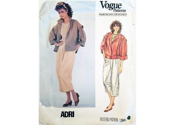 Vintage 80\'s Vogue American Designer 2953 Adri Blouson