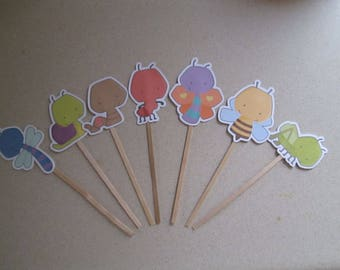 Baby Bug Cupcake Toppers  Set of 35 with Free Shipping