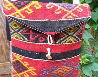 VINTAGE KILIM BAG.......Turkish handmade
