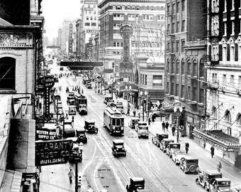 "1929 SW Broadway, Portland, Oregon Vintage Photograph 8.5"" x 11"" Reprint"