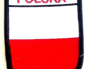 Polska Embroidered Patch