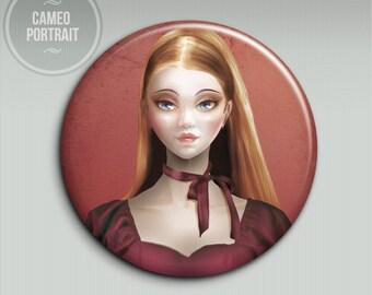 Pocket mirror - Celine (Cameo Portrait) - 58mm