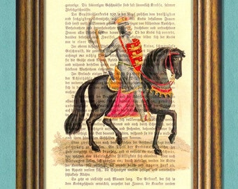 Game of Thrones - LANNISTER KNIGHT -  Dictionary art -Vintage book page print recycled - Art Print Dictionary