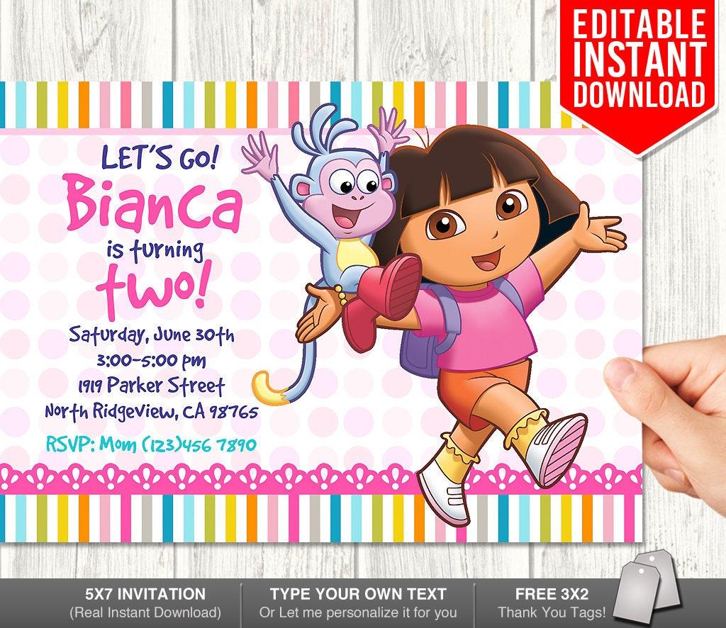 Dora Explorer Invitation Download Dora Invitations Dora