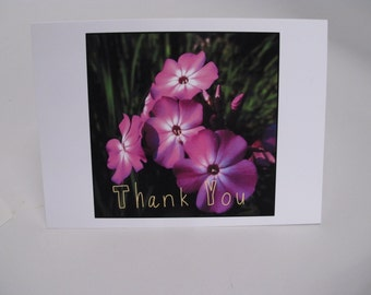 A Simple Thank YOU  4x6  Greeting card  set of 3   Thank You cards Perfectly bright thanks!  bright and flowery  Graduation thank you card