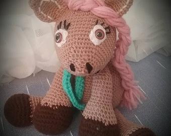 Leila The Little cute pony is to give in loving hands, about 15 cm/Amigurumi/crochet/stuffed/crochet/crochet