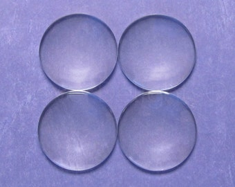 "50 Pcs - 40mm Round Glass Cabochons - 1 9/16"" Clear Round Magnifying Dome Cabs - For Cameo Pendants, Photo Jewelry, Fridge Magnets"