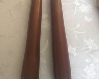 Hand Made Mahogany Rolling Pins,wood,wooden, woodturning,mahogany,solid mahogany