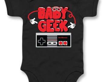 Geek baby Bodysuit. Daddy baby Bodysuit. Geeky birth gift. Geek dad Bodysuit. Nintendo Bodysuit. funny baby Bodysuit. organic baby Bodysuit