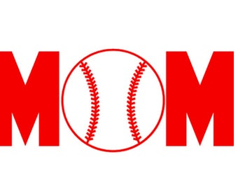 "FREE SHIPPING //  7.2x3"" Baseball Mom Sport Vinyl Decal - Team Spirit Decal - Little League - Vinyl Decal - Team Mom - Car Decal - Softball"
