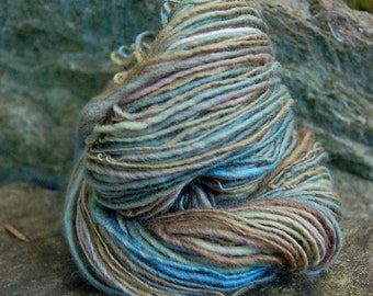 Handspun yarn, handpainted thick and thinworsted  yarn,  wool, multiple skeins available-TETHYS