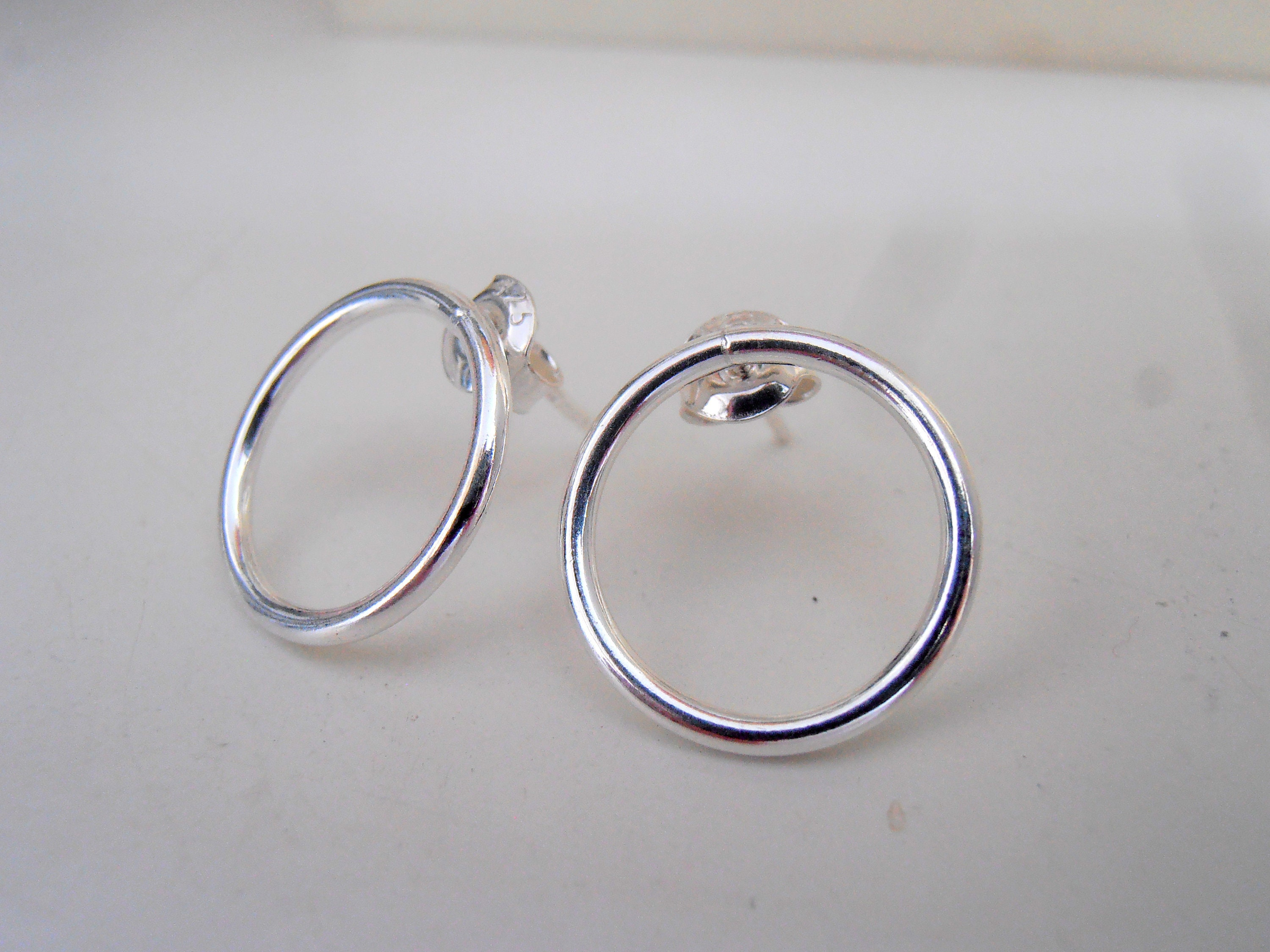 earring collections earrings products open circle stud single nichol wendy