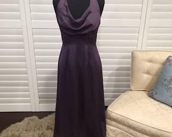 Purple Halter Bridesmaid Dress Sz 8 Full Length