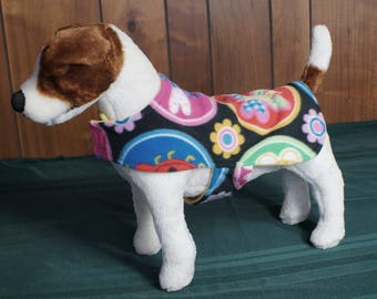 Cozy And Colorful Butterflies And Dragonflies Doggy Fleece Coat